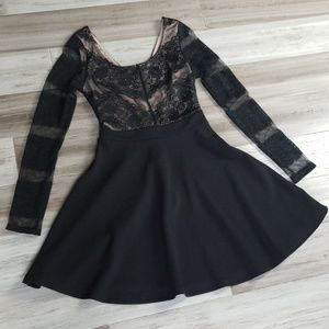 Charlotte Russe Layered Lace Skater Dress